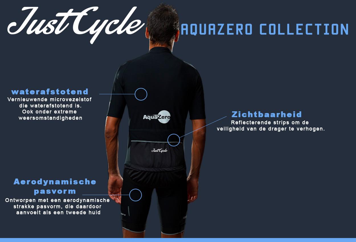 De Just Cycle AquaZero Collection zorgt dat wielrenners droog en warm blijven tijdens nat en koud weer.